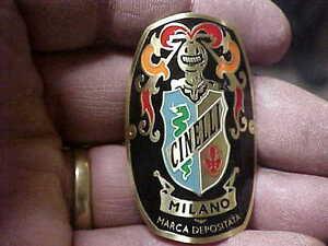 Cinelli Bike Badge Headtube Emblem Acid Etched Brass