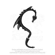 Black Dragon Ear Wrap - Alchemy Gothic Black Dragon's Lure Ear Wrap for right ea