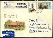 Lithuania 1994 Registered Cover To Czech Republic #C45053