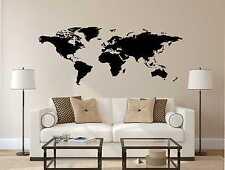 Wandtattoo Welt Karte Wand Tattoo Erde 8 Größen inkl.Rakel W15a