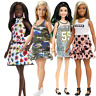 Barbie Fashionistas Ken Doll Denim Stripes Blocked Green Check Blue Vest
