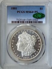 1881 Morgan Silver Dollar PCGS MS64+ PL Proof-like CAC