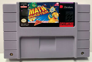 Math Blaster Episode 1 for Super Nintendo SNES Authentic NTSC Cartridge Only One