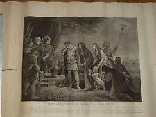 Gravure CORIOLAN VETURIE Empire Romain Rome Singleton Pinx Fessari Thouvenin