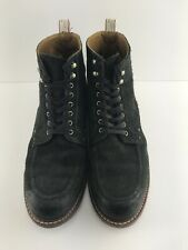 Mens Rag & Bone Black Suede Leather Lace Up Ankle Boots Size 12