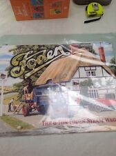 FODEN 6 TON STEAM WAGON UNLOADING BEER A TINPLATE SIGN 150 X 200 MM NEW & SEALED