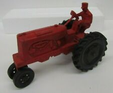VINTAGE AUBURN RUBBER TRACTOR TOY 572 RED 7