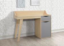 Birlea Kingston Study Desk Dressing Table Beech & Grey Scandia Modern Retro
