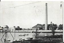 lake and power house-windmont park kewanee illinois postcard 1909
