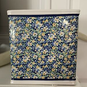 Tommy Hilfiger Blue Yellow Floral Tissue Cover Holder