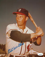 BRAVES Eddie Mathews signed 8x10 photo JSA COA HOF (D) AUTO Autographed Milwauke