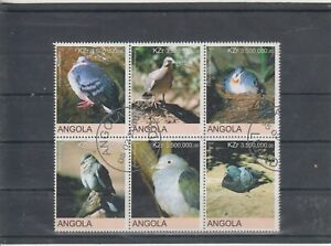 Angola Strip a 6 Stamps Birds used