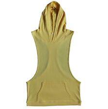 Mens Sleeveless Hoodie Racerback Hooded Shirt Muscle Gym Bodybuilding Vest Tank