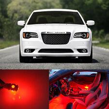 19Pcs Red LED Light  Interior Package For  2011- 2014 Chrysler 300 300C