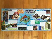 1996 Official Super Mario RPG SNES Nintendo Power Poster Authentic Promo Art
