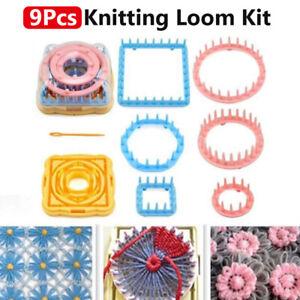 1Set Knit Knitting Loom Crochet Flower Maker Wool Yarn Needle Home Craft DIY-Kit