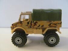 Hot Wheels - 1990 - Military Desert Camo Unimog Truck - Loose