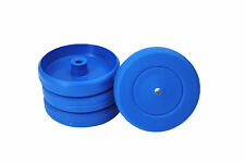 Proops 4 x 50mm dia 4mm BLUE Bore Wheels Mobile Toy Box Cart Car Making S7352