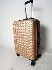 """New Steve Madden B-2 Armor Hard Check-In 24"""" Luggage Suitcase Pink Upright"""
