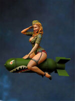 Girl sitting on torpedo Resin Kits Figure Unpainted Model Kits GK Unassembled
