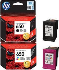 2 ORIGINAL HP 650 TINTE PATRONEN DeskJet Advantage 1015 1018 2515 2545 2645 4645