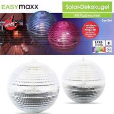 EASYmaxx Solar-Dekokugeln Solarkugeln Leuchtkugeln Outdoor Garten-Deko 2er Set