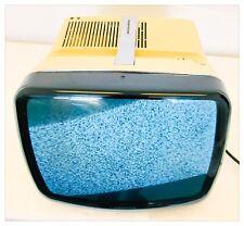 "BRIONVEGA Televisore TV Vintage ALGOL 4 B/N 12"" Anni '70 Bianco Funzionante"