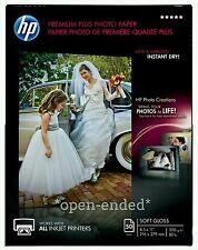 HP Premium Plus Soft Gloss Photo Paper 8.5x11, 50 sheets total, CR667A