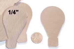 10 pcs 2-3/4 x 1/4 Hot Air BALLOON wooden flat cutout unfinished wood shape