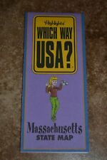 "Highlights Which Way Usa? Massachusetts State Map ""Vgc"""