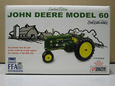 JOHN DEERE JD 60 TRACTOR LIMITED 2002 OHIO FFA EDITION NEW IN BOX 1/16