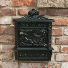 Briefkasten Postillion Wandbriefkasten, grün rostfrei Alu, mit Zeitungsfach