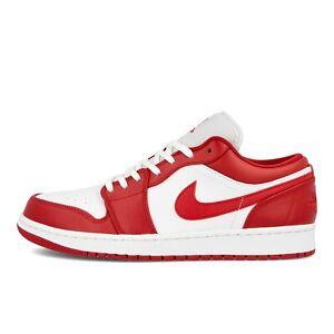 Nike Air Jordan 1 Low Retro Gym Red White 553558-611 NEW IN BOX DS Retro I