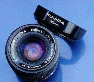 Fuji EBC Fujinon-W Fujinon 35mm 35 mm 1:2.8 2.8 - M42  lens with hood