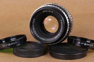 Carl Zeiss Jena Pancolar f/1.8 50mm Camera Lens M42 Mount 1.8/50 Zebra