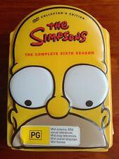 THE SIMPSONS SEASON 6 DVD set REGION 4 matt groening LIMITED EDITION HOMER HEAD