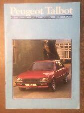 PEUGEOT TALBOT orig 1985 UK Mkt Prestige Brochure - Samba Minx Rapier 205 305