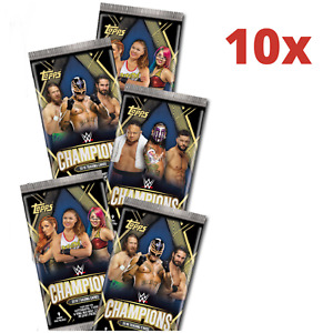 10x Packs Sealed Topps WWE Champions 2019 Trading cards 90 cards