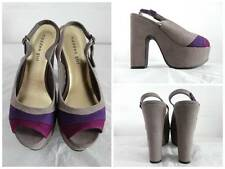 MADDEN GIRL Gray Purple Pink Color Block High Heel Pump Platform Shoes Sz 7 37