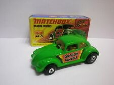 1974 Matchbox Superfast Nº 43 DRAGON WHEELS Mint in box VOLKSWAGEN DRAGSTER