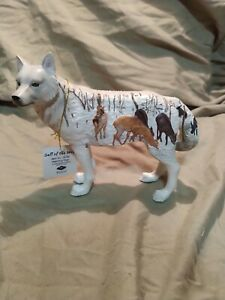Westland Giftware - Call of The Wolf Figurine, Watching Deer, 14156 Retired Rare