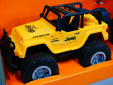 RC 1/14 Radio Control Truck JEEP WRANGLER RUBICON W/ LED Lights + SOUNDS Yellow