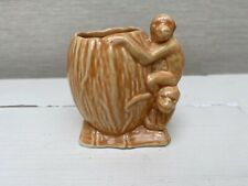 Sylvac Vintage Orange Small Monkey Pot - Rare - 2307