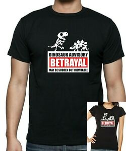 FireFly SERENITY DINOSAUR BETRAYAL EXTINCTION T-Shirt. Unisex or Women's Fitted