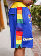 Just Don Mitchell & Ness DENVER NUGGETS 1991 Rainbow Multicolor AUTHENTIC Shorts