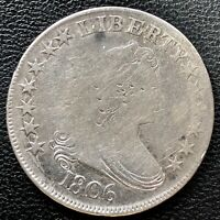 1806 Draped Bust Half Dollar 50c Mid Grade Rare Early Coin #15236