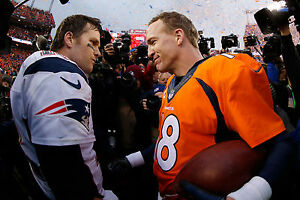 Peyton Manning & Tom Brady, 8x10 Color Photo