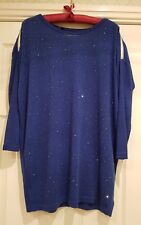 Interdee.  Royal Blue Jumper with sparkle. One Size.