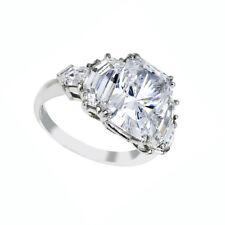 GIA Certified 1.65 Carat 18k White Gold Radiant Cut Diamond Engagement Ring