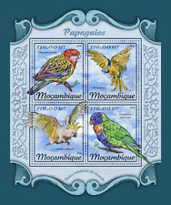 Mozambique 2018 MNH Parrots Macaws Rosellas Cockatoos Lorikeets 4v M/S Stamps